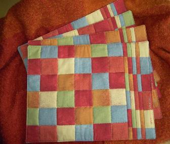 patchwork und quilts tischsets quadrate und cardtrick. Black Bedroom Furniture Sets. Home Design Ideas